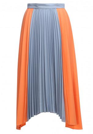 Асимметричная юбка-плиссе