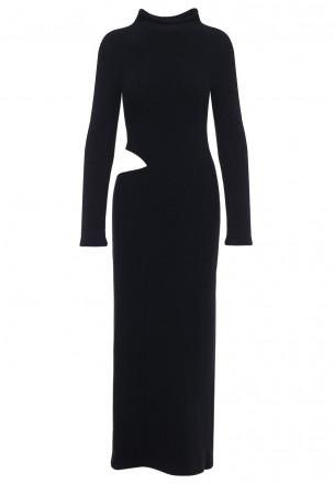 Платье-макси с разрезом