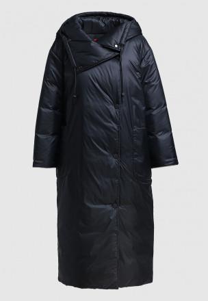 Утеплённое пальто-макси