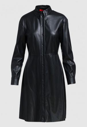 Платье-мини из искусственной кожи