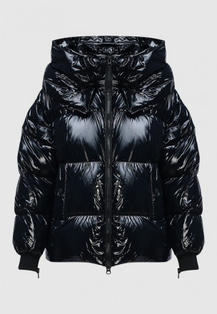 Виниловая куртка-пуховик