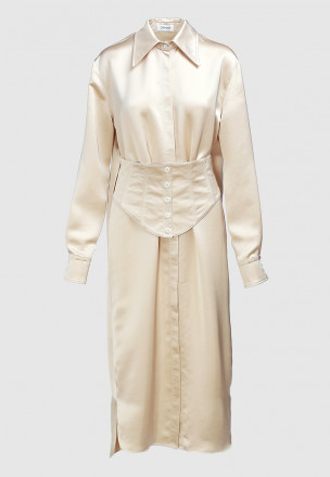 Платье-рубашка с корсетом