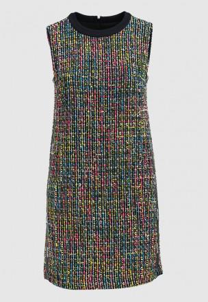 Платье-мини из твида