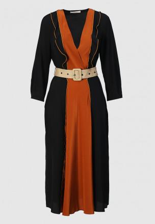 Шёлковое платье-миди