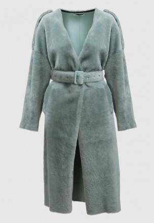 Меховое пальто из мутона Genie