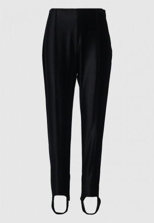 Велюровые брюки с штрипками