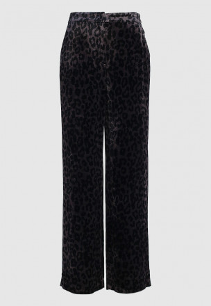 Велюровые брюки-палаццо