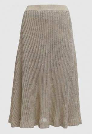 Вязаная юбка с люрексом