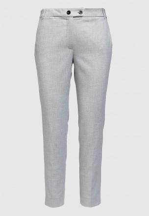 Меланжевые брюки с люрексом