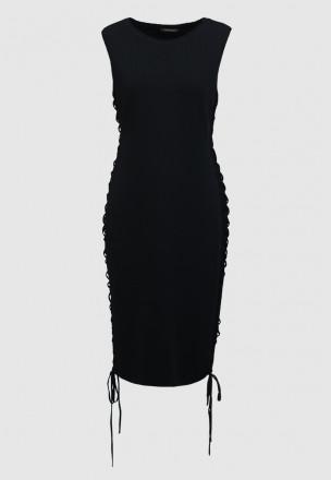 Платье из джерси со шнуровкой