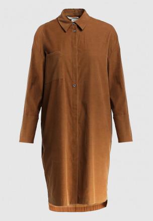 Платье-рубашка из микровельвета