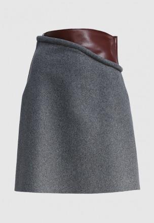 Комбинированная юбка-мини