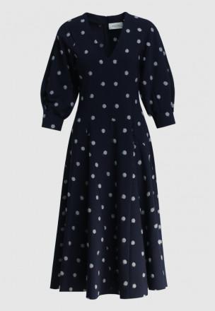 Платье-миди в горошек