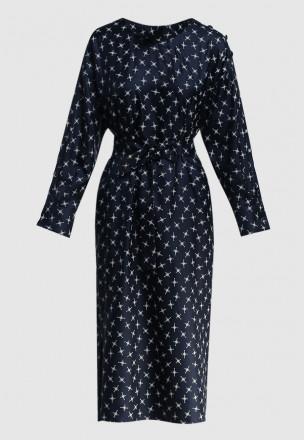 Сатиновое платье-миди
