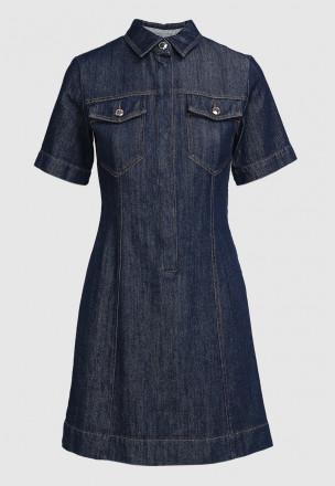 Джинсовое платье-мини