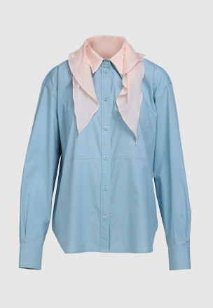 Рубашка с платком и манишкой