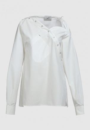 Рубашка с асимметричным кроем