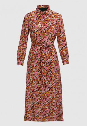 Платье-миди в цветочек