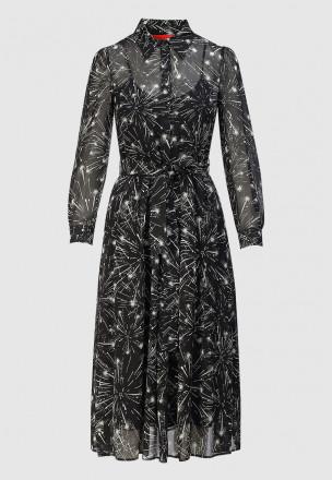 Платье-миди из шифона