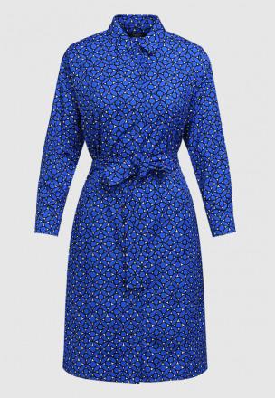 Платье с планкой и поясом