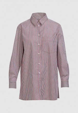 Удлинённая рубашка в полоску
