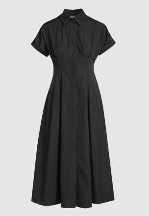 Платье-миди с планкой