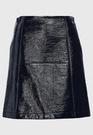 Виниловая мини-юбка