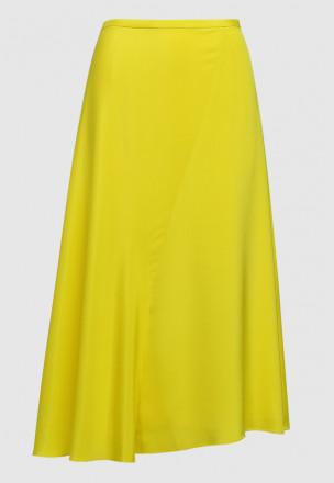 Сатиновая юбка миди