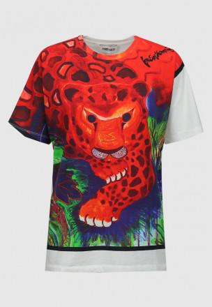 Футболка KENZO x KANSAIYAMAMOTO 'Leopard'