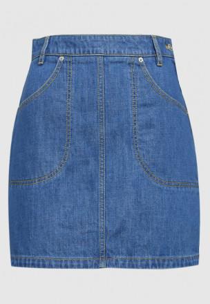 Джинсовая юбка-мини