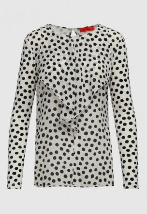Блуза из шёлка и джерси