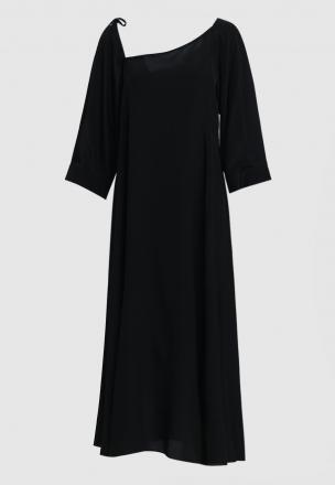 Асимметричное платье-миди