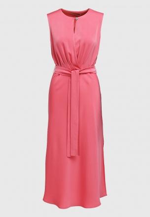 Платье-миди из сатина