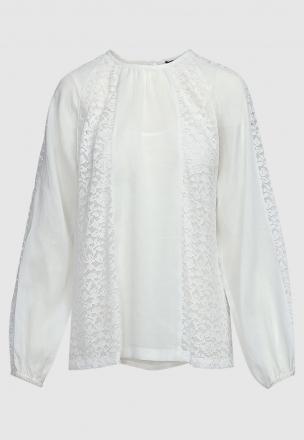 Блуза с ажурными вставками