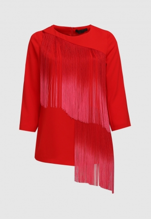 Блуза с бахромой