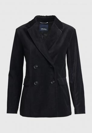 Двубортный пиджак из бархата