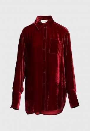 Велюровая рубашка