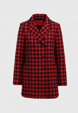 Двубортный пиджак в клтеку