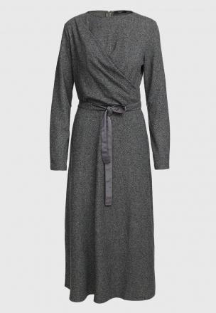 Платье-миди в елочку