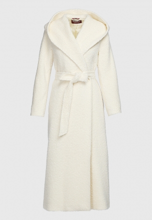 Пальто из бленда альпаки