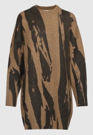 Вязаное платье-мини 'Pleat Camo'