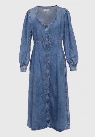 Платье-миди из денима