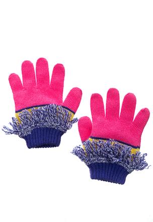 Перчатки с цветной бахромой