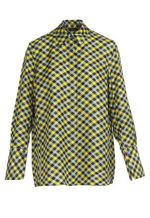 Шёлковая рубашка в клетку