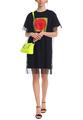 Платье-футболка из джерси и фатина