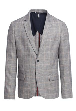 Пиджак из бленда льна и хлопка