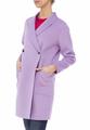 Двубортное пальто из двойной шерсти