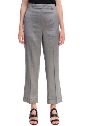 Укороченные брюки из бленда шёлка