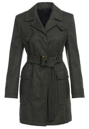 Пальто с кулиской