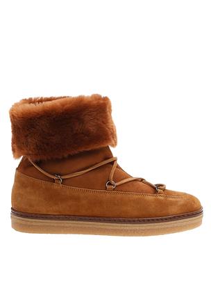 Замшевые ботинки-сноубутсы